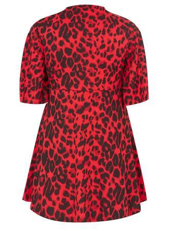 Μπλούζα Κόκκινη Animal Print 50939_2 Maniags