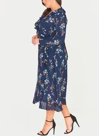 Κρουαζέ Φόρεμα Navy Φλοραλ 51052_3 Maniags
