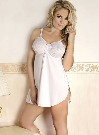 Sexy Ivory Chemise Maniags