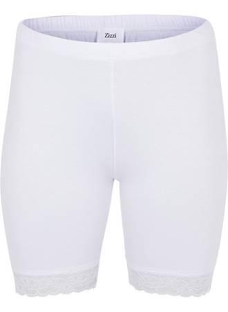 Άσπρο Shorts με Δαντέλα στο Τελείωμα Maniags