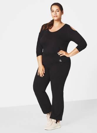Βαμβακερή Παντελόνι Φόρμα Μαύρη Maniags