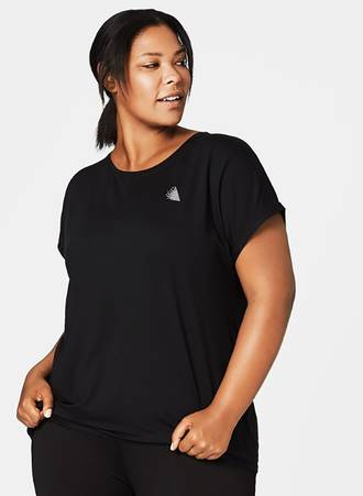 Αθλητικό T-shirt Μαύρο Maniags