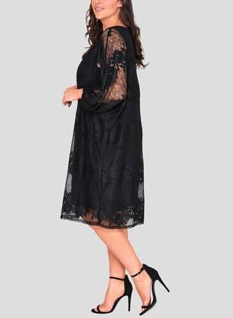 Φόρεμα Μαύρο Δαντέλα Quorn_3 Maniags