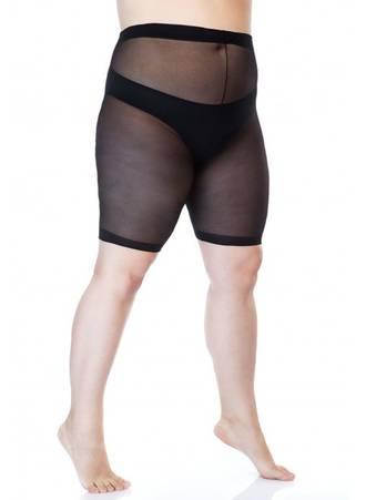 Μαύρο Slimming Shorts για Περιφέρεια 170-200 εκατοστά Maniags