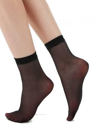Κάλτσες Μαύρες Sparkly Trim Maniags