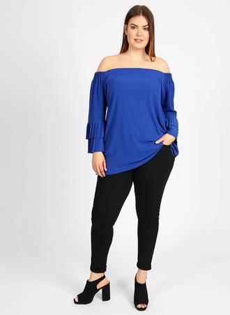 Μπλε Έξωμη Μπλούζα t5012blue_2 Maniags