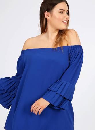 Μπλε Έξωμη Μπλούζα Maniags