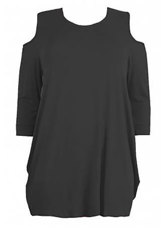 Μπλούζα Μαύρη Βισκόζης Maniags