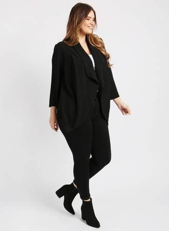 Σακάκι Μαύρο Cropped 160101-black_2 Maniags