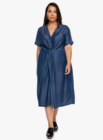 Φόρεμα Μίντι Denim Maniags