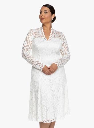 Φόρεμα Δαντέλα Κρεμ Maniags