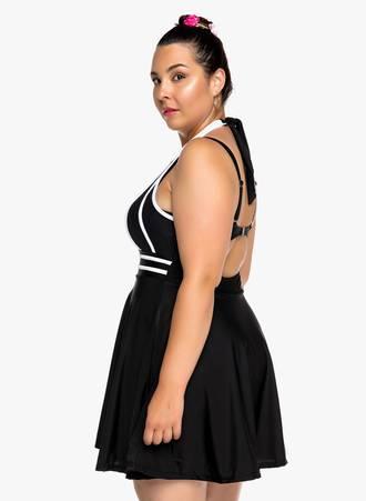 Ολόσωμο Ασπρόμαυρο Μαγιό Φόρεμα 2019_06_13-Maniags9003 Maniags