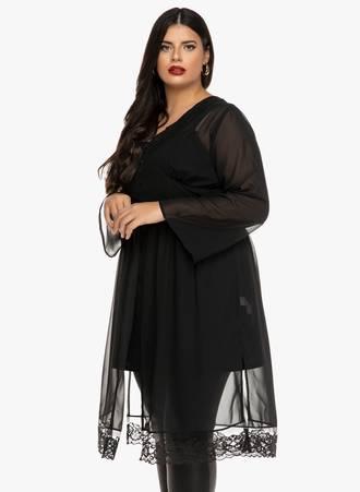Φόρεμα Μαύρο Διαφανές Maniags