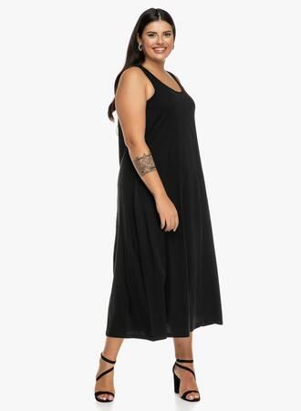 Φόρεμα Μάξι Μαύρο Βαμβακερό 2019_09_19-Maniags0750 Maniags