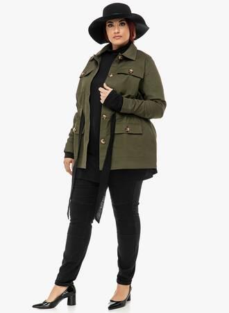 Jacket Χακί με Κέντημα 2019_12_13-Maniags1117 Maniags