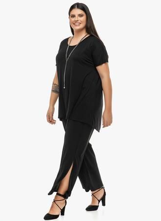 Παντελόνα με Άνοιγμα στο Πλάι Μαύρη 2019_12_13-Maniags2431 Maniags