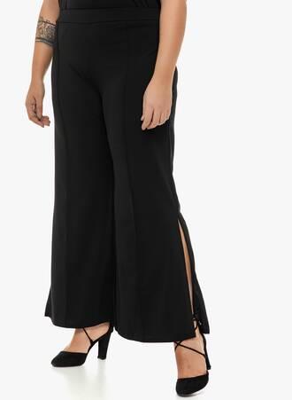 Παντελόνα με Άνοιγμα στο Πλάι Μαύρη Maniags