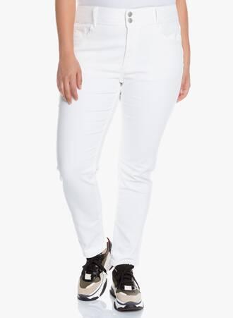 Τζιν Λευκό Slim Fit Maniags