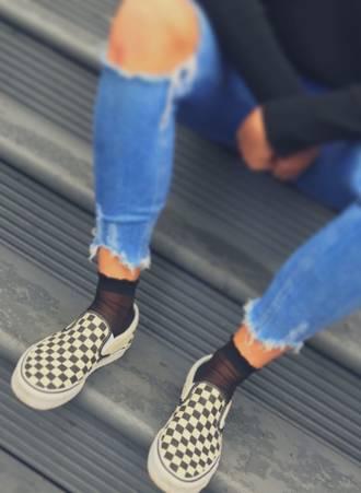 Μαύρες Κάλτσες με Βολάν Maniags