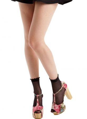 Μαύρες Κάλτσες με Βολάν 51182_3 Maniags