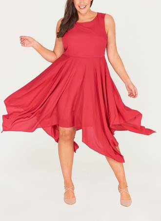 Φόρεμα Αμάνικο Magenta Maniags