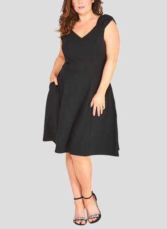 Φόρεμα Μαύρο με Φιόγκους Maniags