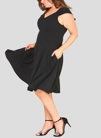 Φόρεμα Μαύρο με Φιόγκους 51247_3 Maniags