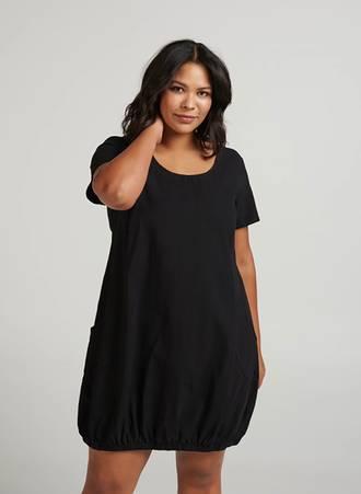 9b81a5dab316 Μαύρο Βαμβακερό Φόρεμα Maniags