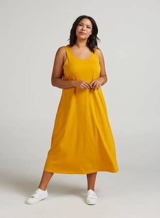 Φόρεμα Μάξι Κροκί Βαμβακερό Maniags