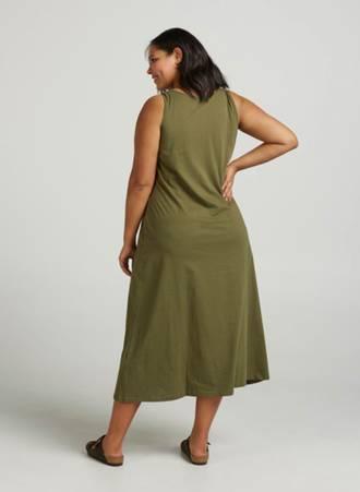 Φόρεμα Μάξι Χακί Βαμβακερό 636891230751002314---2019-03-20_model18727_03_v50021k_ivygreen Maniags