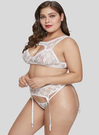Sexy Set Bralette Λευκό LC43092-1-3 Maniags