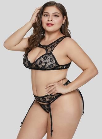 Sexy Set Bralette Μαύρο LC43092-2-3 Maniags