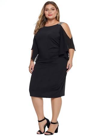 Φόρεμα Έξωμο Μαύρο Maniags