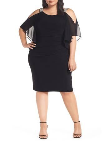 Φόρεμα Έξωμο Μαύρο LC611135-2-5 Maniags