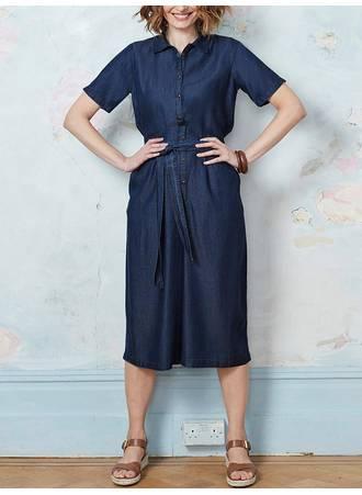 Denim Culotte Jumpsuit ST0204-DARKBLUE-03 Maniags