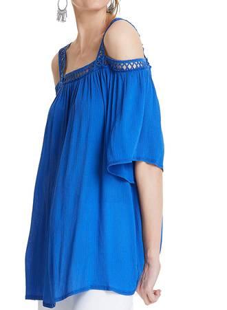 Μπλούζα Έξωμη Βισκόζης TP6760-BLUE-03 Maniags