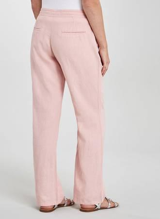 Λινή Παντελόνι Ροζ TR1736-PINK-05 Maniags