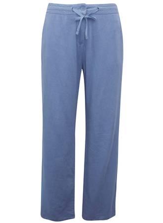 Λινή Παντελόνα Μπλε TR1737-BLUE-04 Maniags