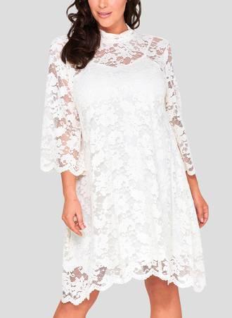 Φόρεμα Δαντέλα με ψηλό Λαιμό Maniags