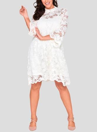 Φόρεμα Δαντέλα με ψηλό Λαιμό abington_3 Maniags
