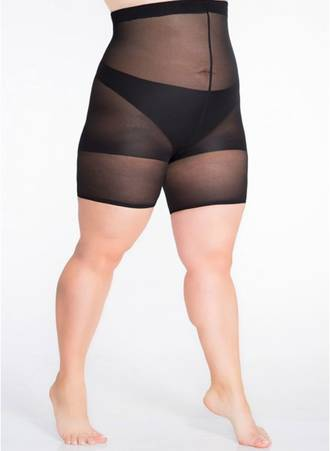 Μαύρο Slimming Shorts για Περιφέρεια 140-170 εκατοστά Maniags