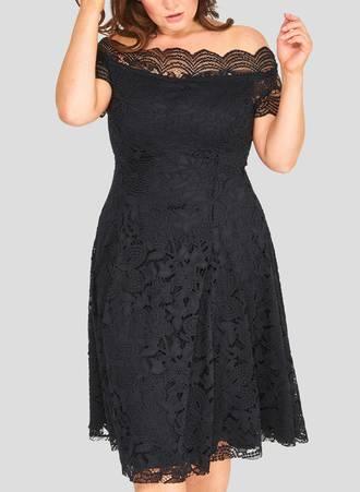 Φόρεμα Δαντέλας Vintage Μαύρο Maniags