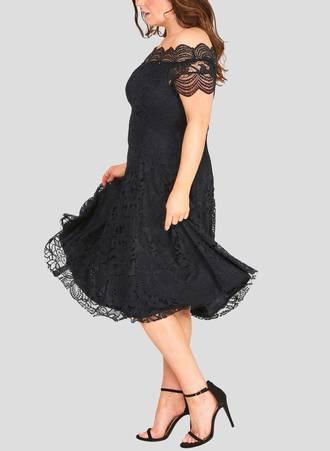 Φόρεμα Δαντέλας Vintage Μαύρο avantBlack3 Maniags