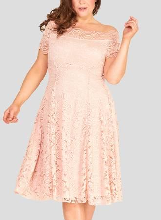 Φόρεμα Δαντέλας Vintage Blush Pink Maniags