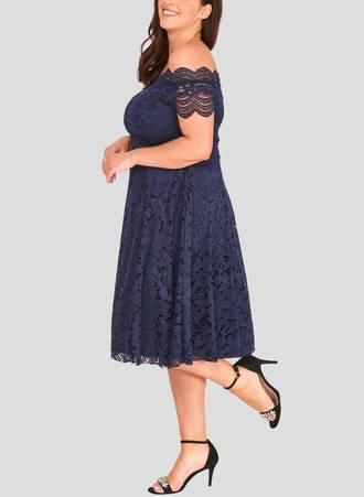 Φόρεμα Δαντέλας Vintage Navy avantNavy3 Maniags