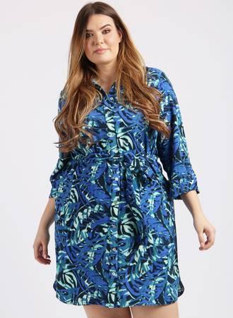Σεμιζιέ Φόρεμα Φλοράλ Μπλε Maniags