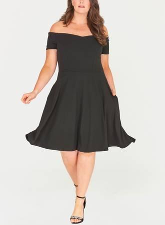 Μαύρο Έξωμο Φόρεμα honey_1 Maniags