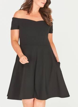 Μαύρο Έξωμο Φόρεμα Maniags