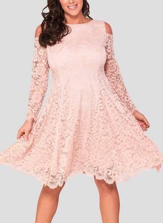 Φόρεμα Δαντέλα Blush Pink Maniags