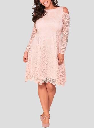 Φόρεμα Δαντέλα Blush Pink pearl_3 Maniags